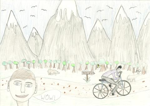 Drawing made by a student from Kincardine near Menteith